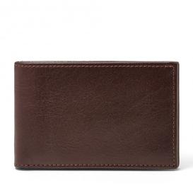 Fossil tegnebog med plads til kort med møntlomme
