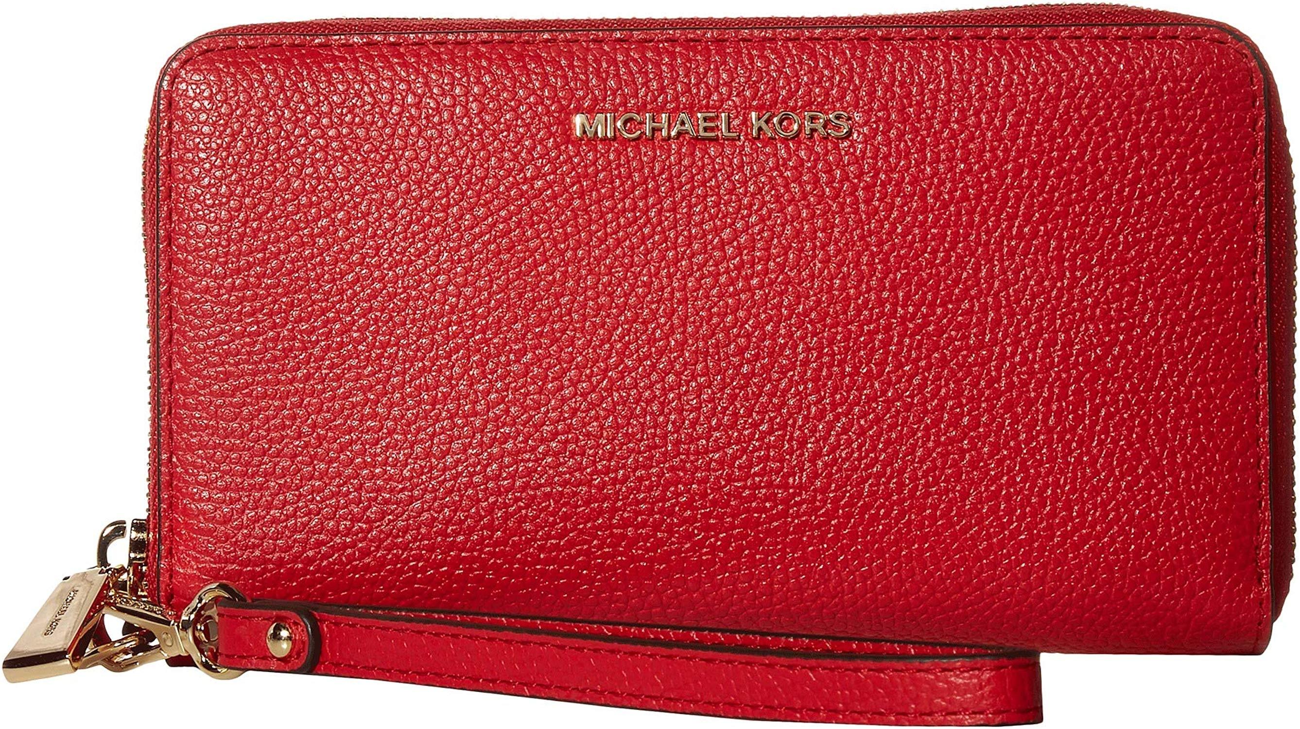 michael kors plånbok röd